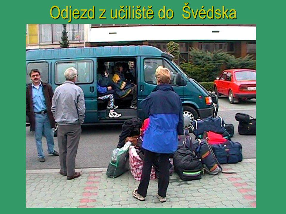 Odjezd z učiliště do Švédska