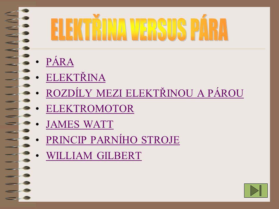 - Elektřinu je víc způsobů jak jí získat(jaderná,větrná,vod ní,tepelná,sluneční a.t.d.) -A páru získáte jen když zahřejete vodu -Elektřina se lépe přenáší na vzdálenosti než pára např:elektrické kabely A u páry pouze parovod
