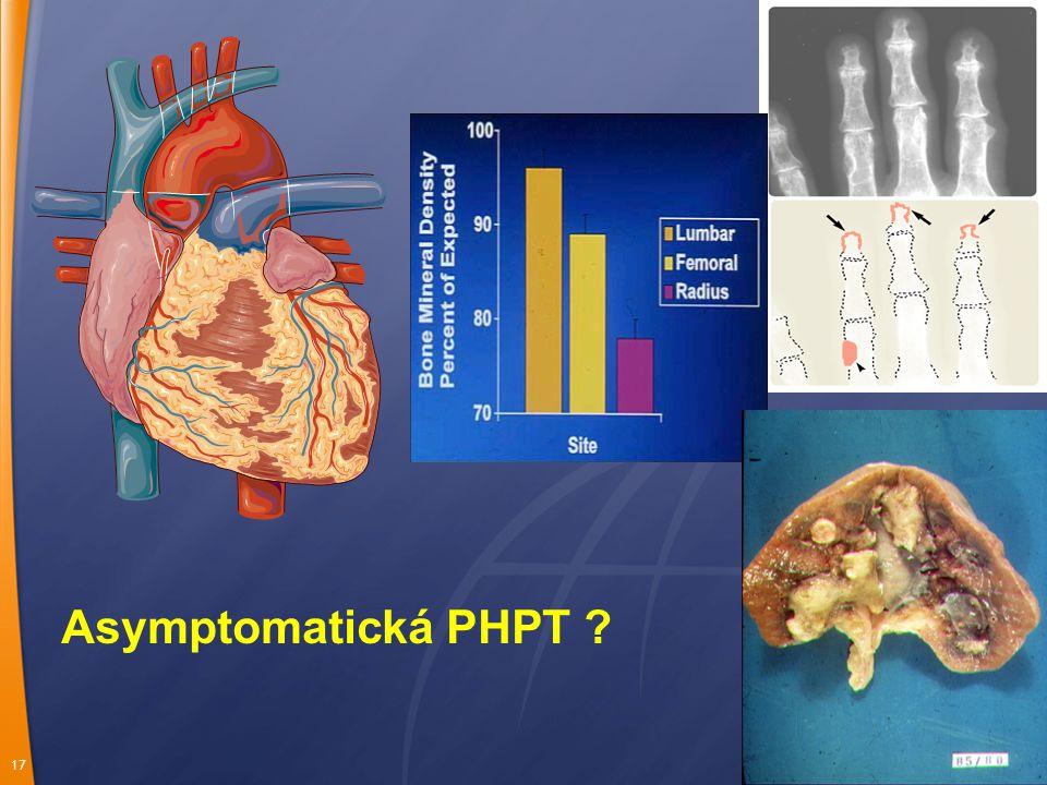 17 Asymptomatická PHPT ?
