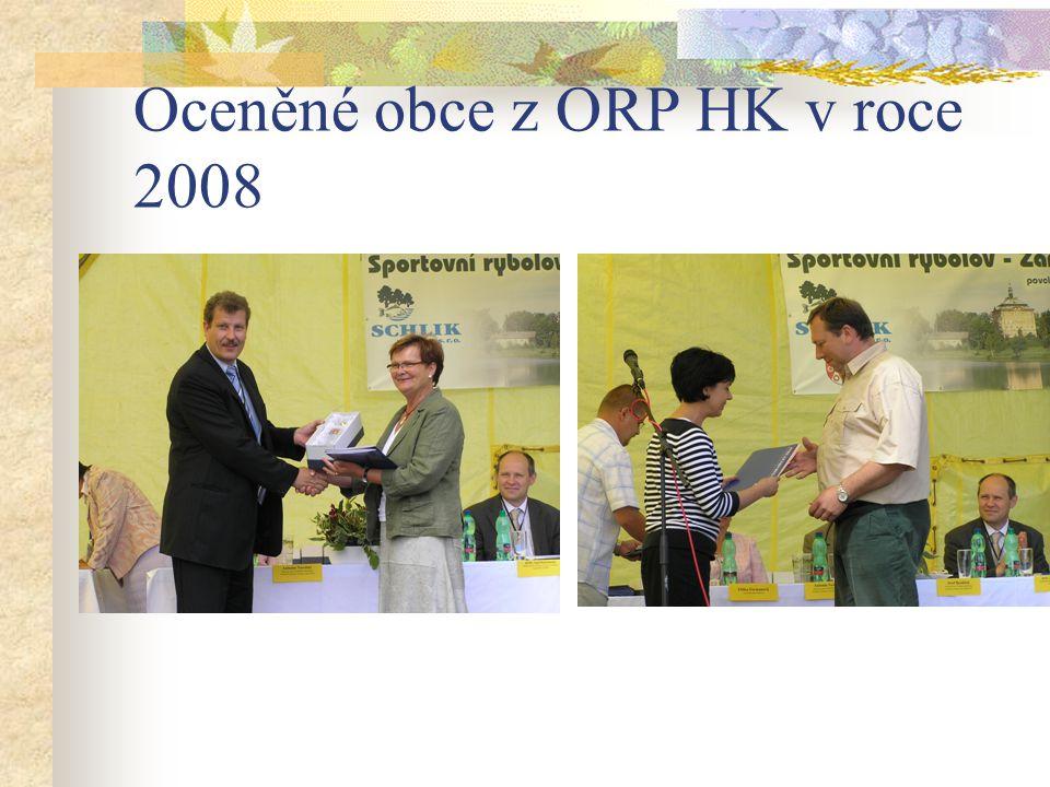 Oceněné obce z ORP HK v roce 2008
