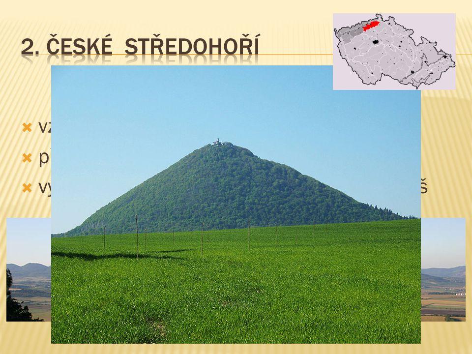  výrazné vulkanické centrum v okolí Bruntálu  asi dvacet většinou čedičových stratovulkánů  Velký a Malý Roudný a Uhlířská a Venušina sopka  jsou mladší než vulkanity Doupovských hor a Českého středohoří  stáří se odhaduje přibližně na 3,4 - 1,2 milionu let (tedy konec třetihor a počátek čtvrtohor) Uhlířský vrch Venušina sopka