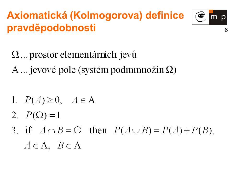 17 Kovariance dvou veličin X, Y Kovarianční matice n veličin veličin X 1,..., X n - symetrická, positivně definitní Kovariance