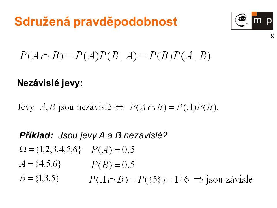 20 Binomické rozdělení B(n,p) n nezávislých pokusů, při nichž může nastat jev A s pravděp.