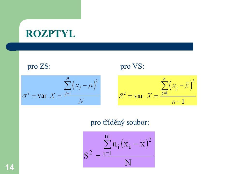 14 ROZPTYL pro ZS:pro VS: pro tříděný soubor:
