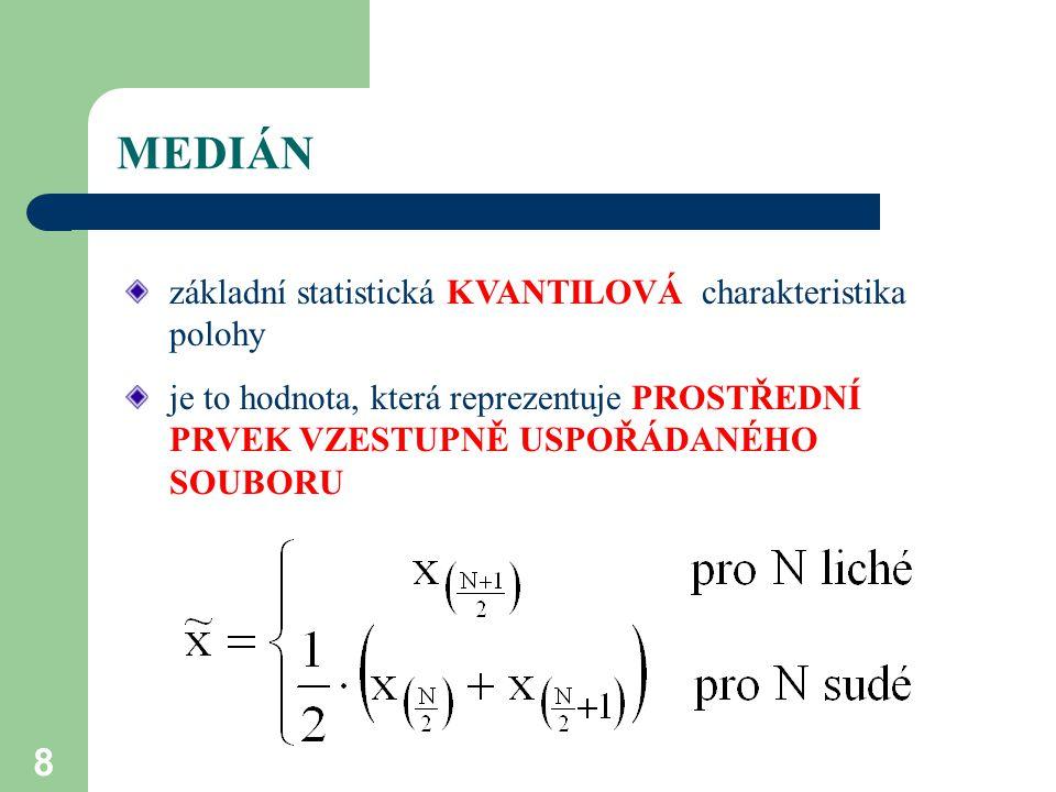 29 INTERVALOVÉ ODHADY PARAMETRŮ ZS Interval spolehlivosti pro parametr  při hladině významnosti  (0,1) je určen statistikami T 1 a T 2 :.