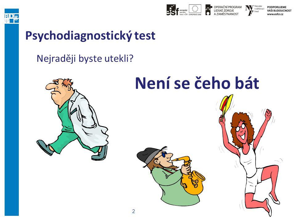 2 Psychodiagnostický test Nejraději byste utekli? Není se čeho bát