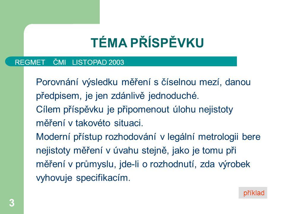 REGMET ČMI LISTOPAD 2003 24 DĚKUJI ZA POZORNOST