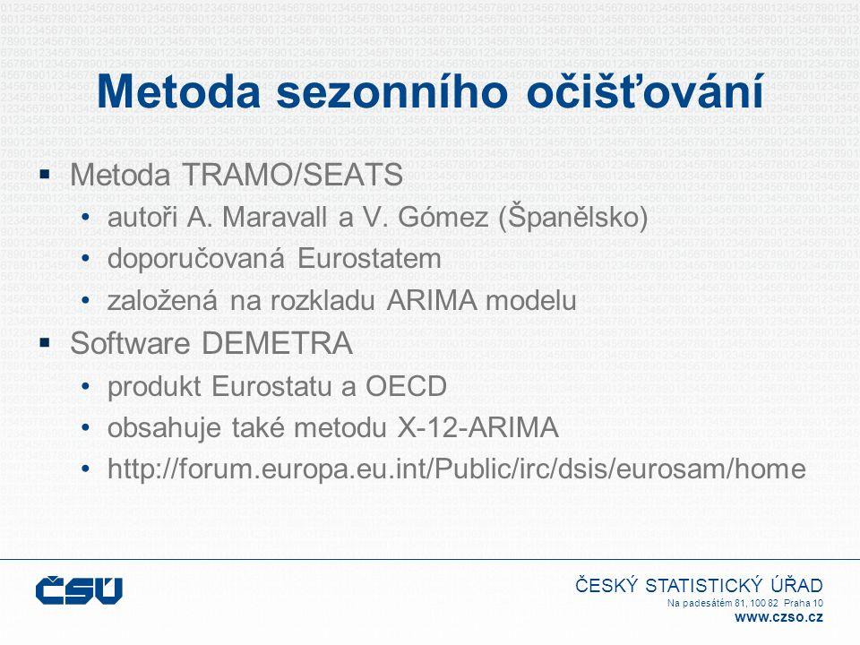ČESKÝ STATISTICKÝ ÚŘAD Na padesátém 81, 100 82 Praha 10 www.czso.cz Účetní konzistence  Možné postupy při očištění HDP přímý: očištění původní řady HDP nepřímý: součet jednotlivých očištěných složek výdajů nebo zdrojů  Požadavek Eurostatu není jednoznačný  Zvolena byla přímá metoda  Diskrepance jsou uvedeny jako samostatná položka