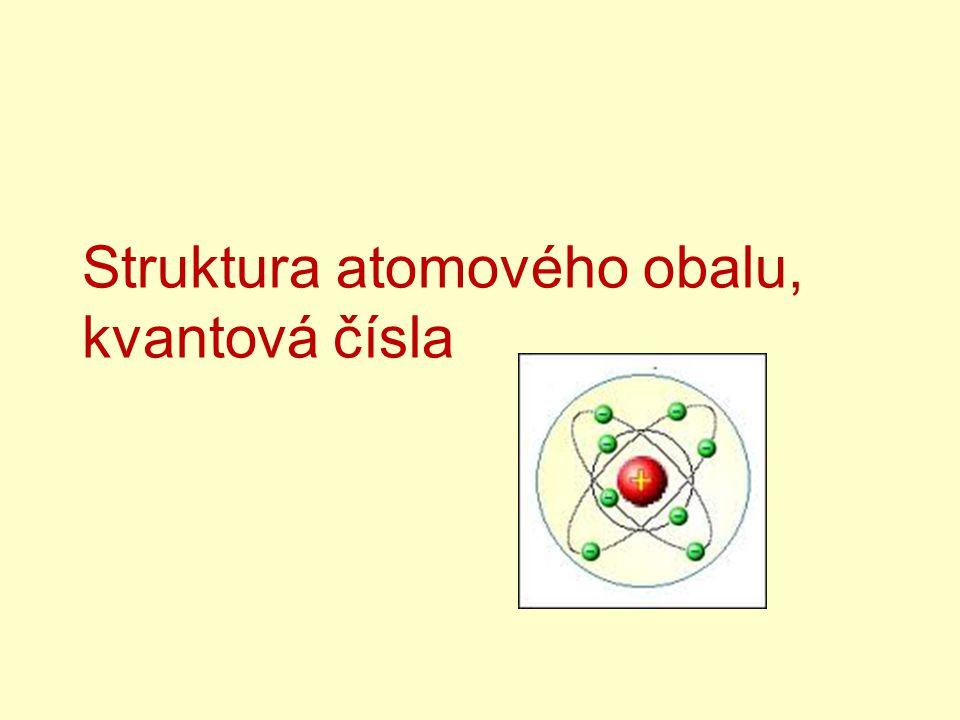 Struktura atomového obalu, kvantová čísla