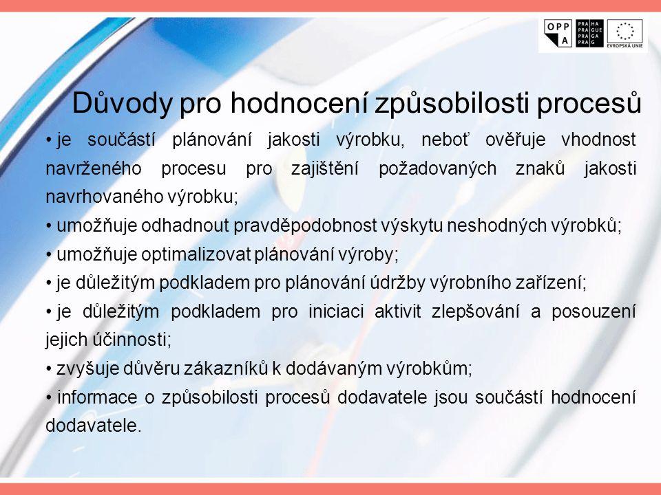 je součástí plánování jakosti výrobku, neboť ověřuje vhodnost navrženého procesu pro zajištění požadovaných znaků jakosti navrhovaného výrobku; umožňu
