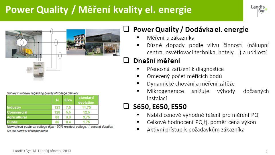 Landis+Gyr | M.Hladík| březen, 2013 Power Quality / Měření kvality el.