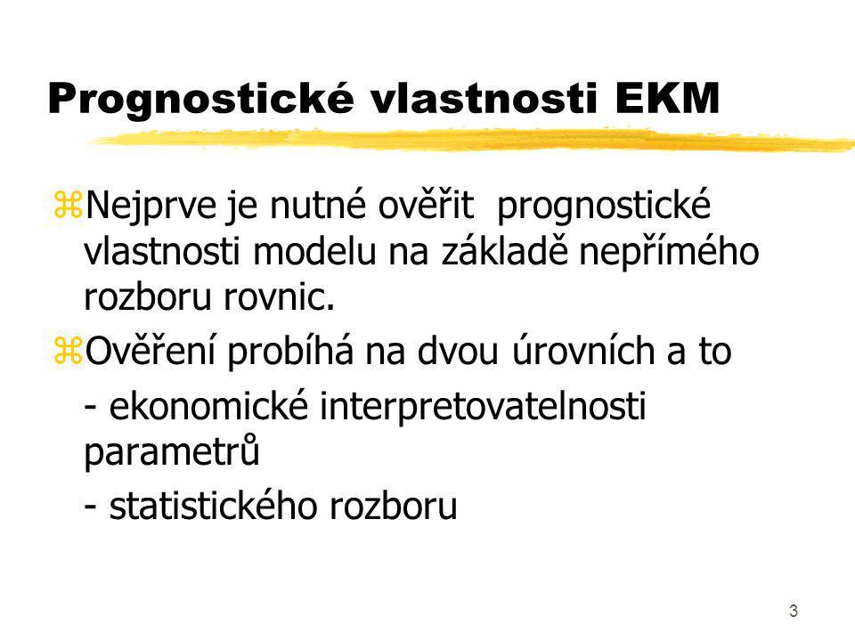 54 EKM pro hodnocení politik Kde A..matice strukturálních parametrů programových proměnných B..