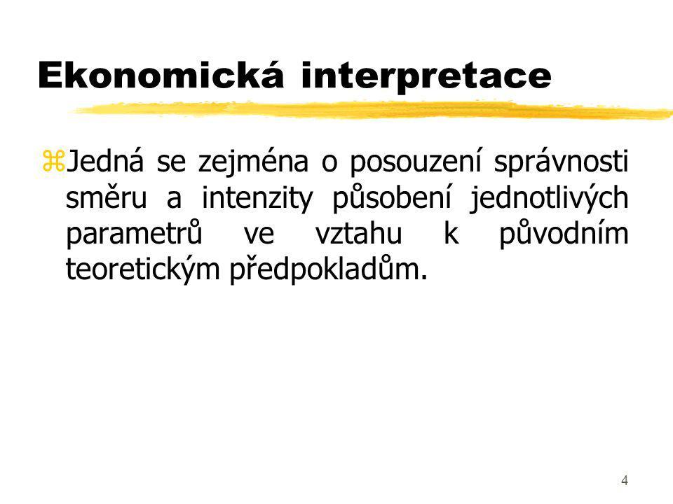 45 Odvození prognózy z EKM zRealizováno pomocí následujícího vzorce...