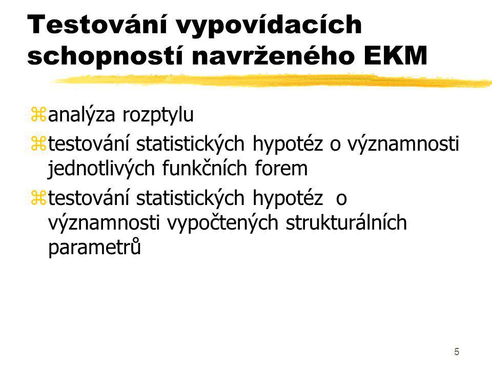 46 Formulace prognóz z EKM zMá 2 fáze - odhad x  např.