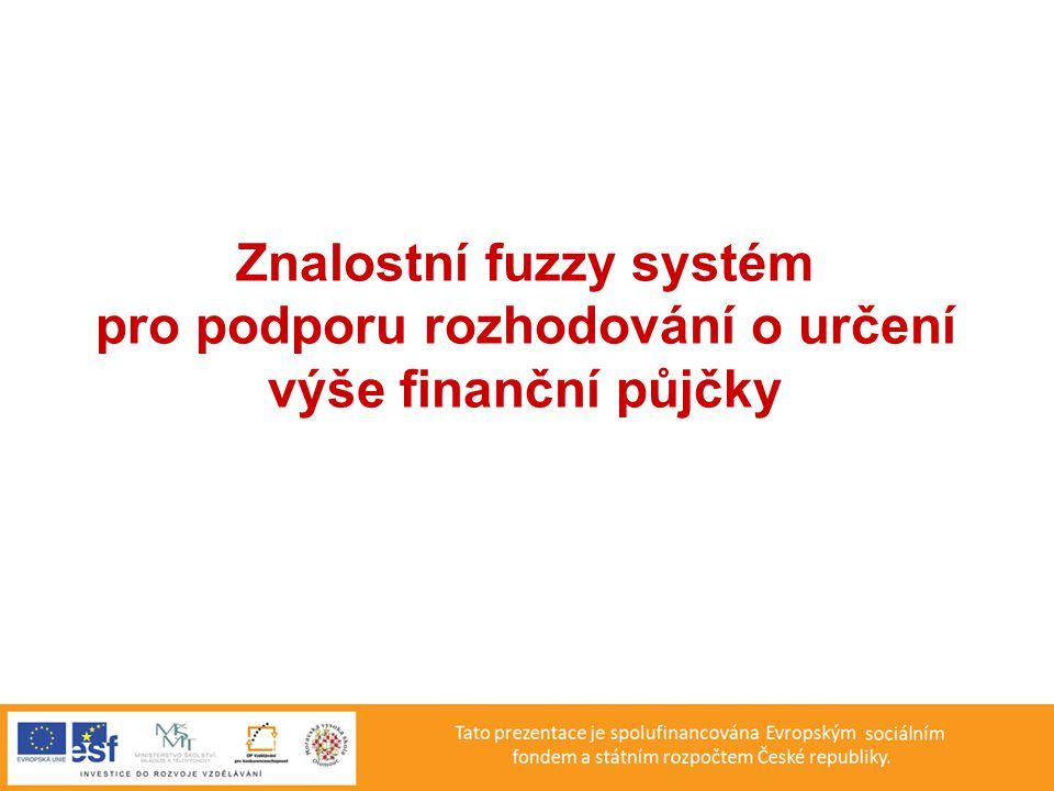 Znalostní fuzzy systém pro podporu rozhodování o určení výše finanční půjčky