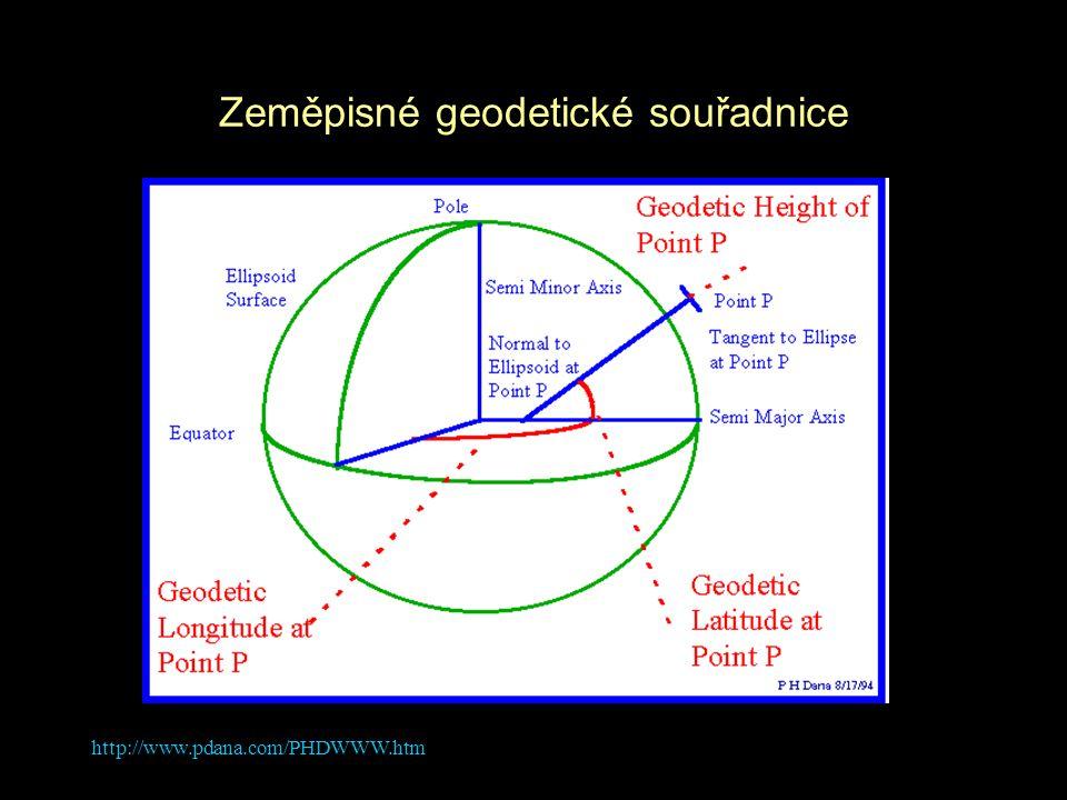 http://www.pdana.com/PHDWWW.htm Zeměpisné geodetické souřadnice