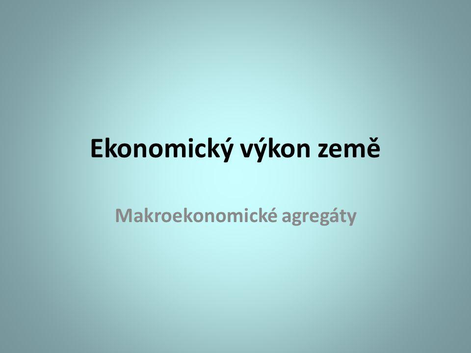 Ekonomický výkon země Makroekonomické agregáty