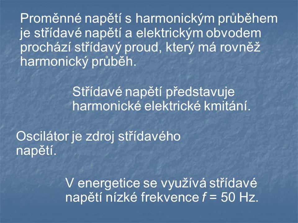 Elektromagnetické kmitání V elektromagnetickém oscilátoru se periodicky mění energie elektrického pole v energii magnetického pole a naopak.