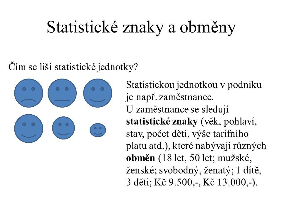 Statistický soubor Statistický soubor je množinou statistických jednotek.