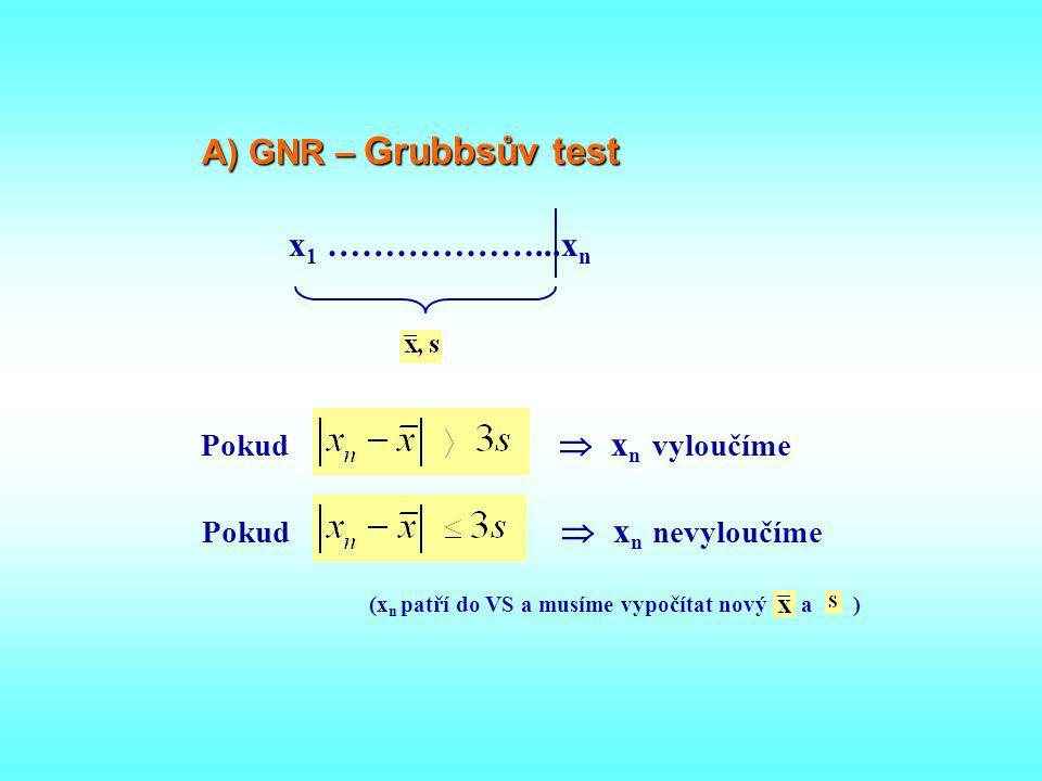 Obecný postup při testování souborů 1)  2 – test (GNR ?) Parametrické t.