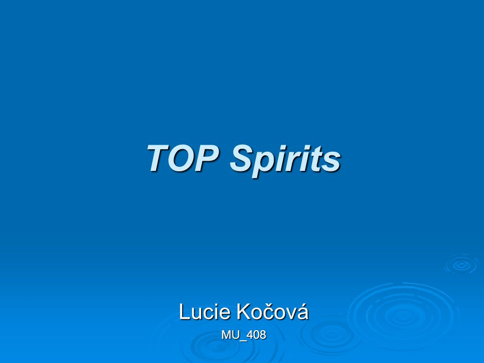 TOP Spirits Lucie Kočová MU_408