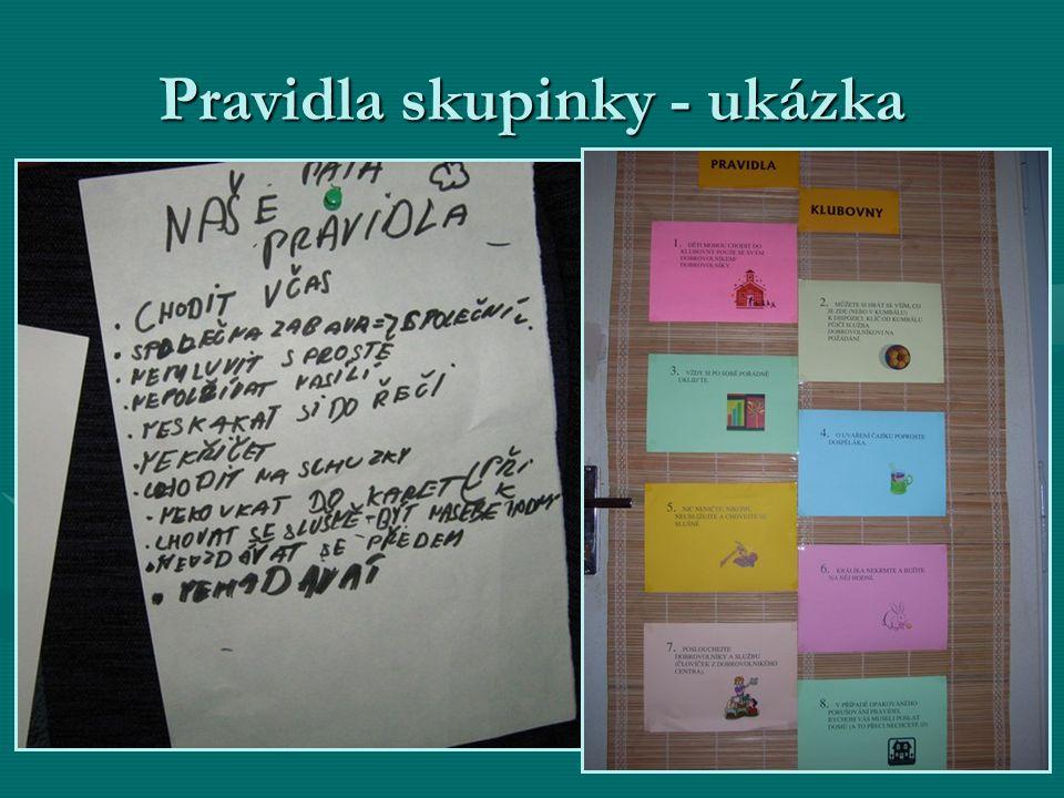 Pravidla skupinky - ukázka