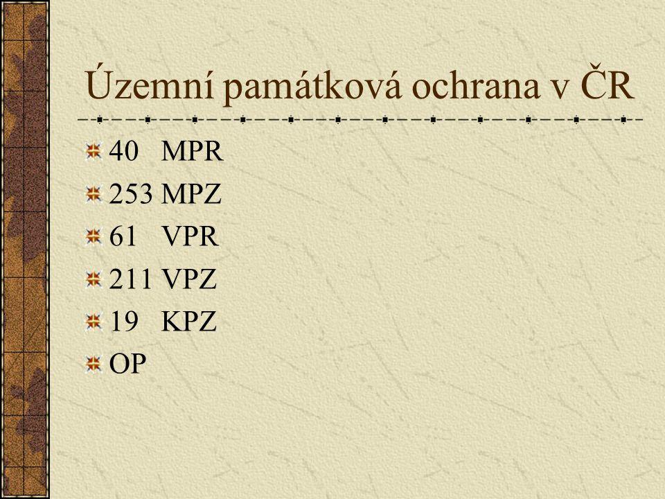 Územní památková ochrana v jižních Čechách 7MPR (Č.