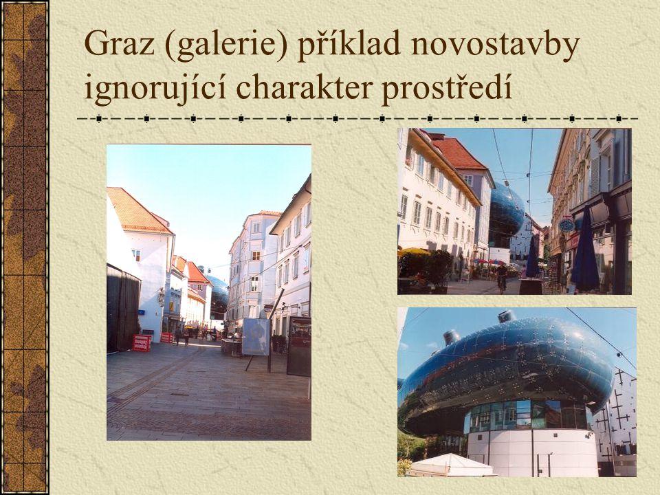 Graz (galerie) příklad novostavby ignorující charakter prostředí