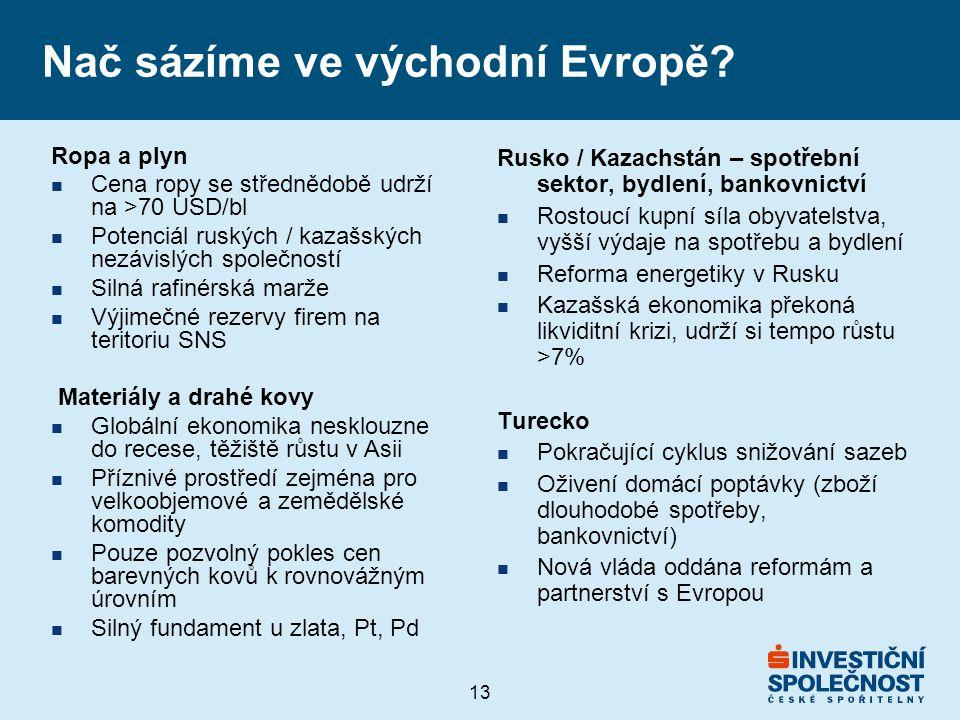 13 Nač sázíme ve východní Evropě.