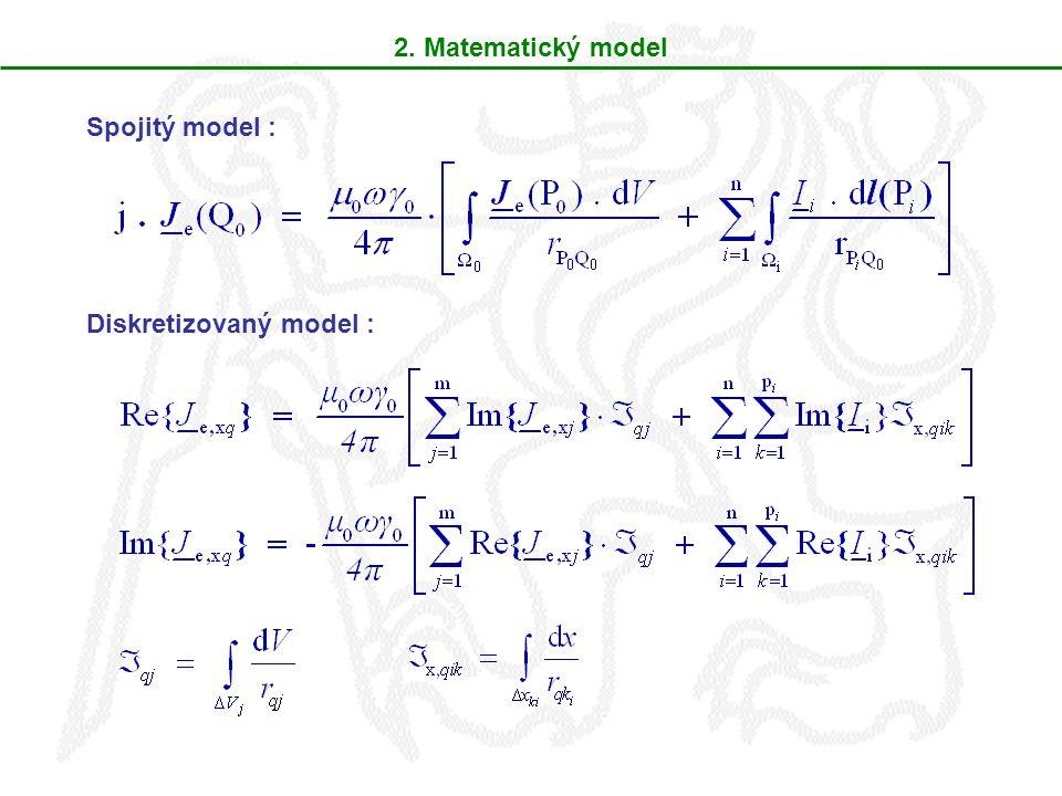 2. Matematický model Spojitý model : Diskretizovaný model :