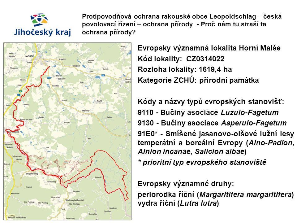 Protipovodňová ochrana rakouské obce Leopoldschlag – česká povolovací řízení – ochrana přírody - Proč nám tu straší ta ochrana přírody? Evropsky význa