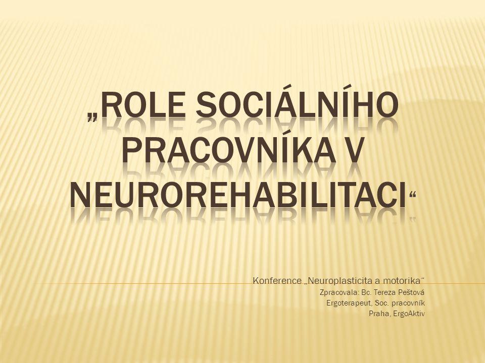 """Konference """"Neuroplasticita a motorika"""" Zpracovala: Bc. Tereza Peštová Ergoterapeut, Soc. pracovník Praha, ErgoAktiv"""