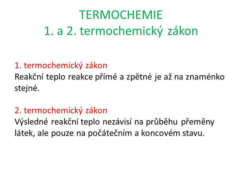 TERMOCHEMIE 1. a 2. termochemický zákon 1.