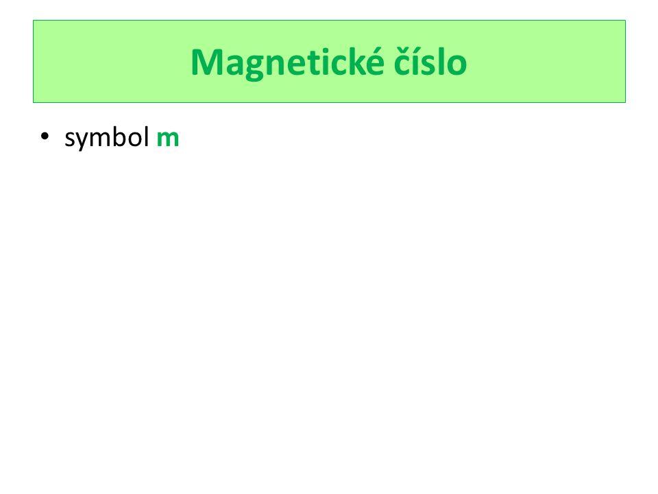 Magnetické číslo symbol m