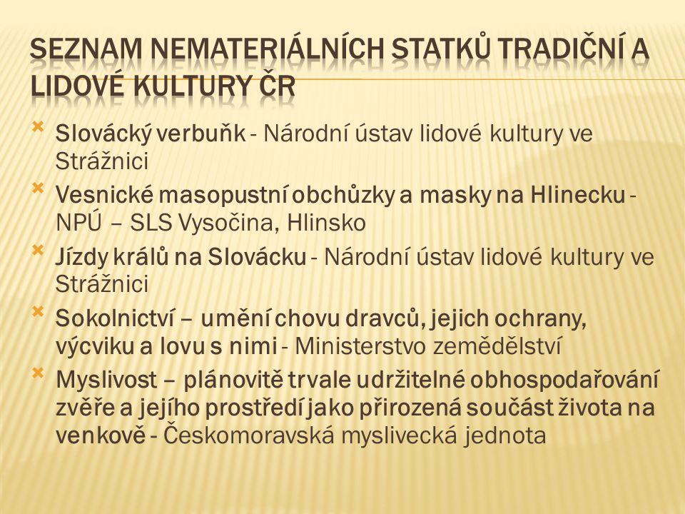 Pro obor muzejnictví je v České republice zřízeno sedm specializovaných muzeologicko- metodických pracovišť, která poskytují informace a služby vlastníkům a správcům sbírek muzejní povahy a dalším zájemcům, vydávají metodické pokyny a texty, poskytují konzultace.