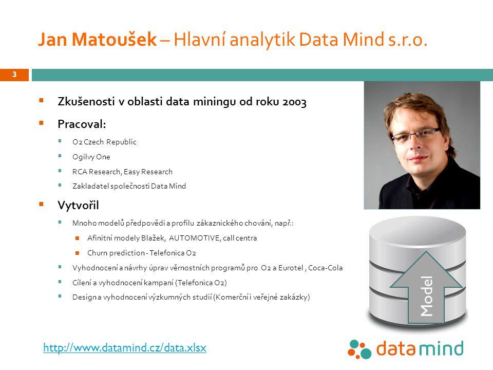 Jan Matoušek – Hlavní analytik Data Mind s.r.o.