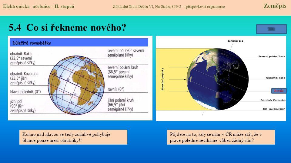 5.5 Procvičení a příklady Elektronická učebnice - II.