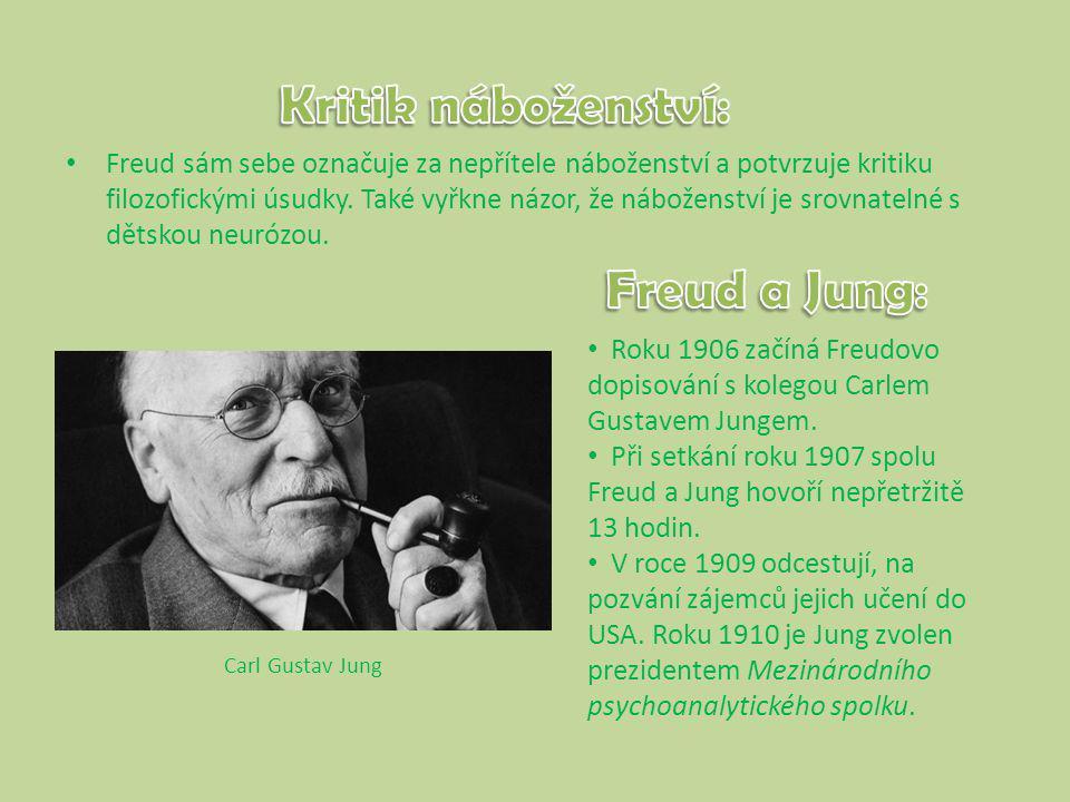 Freud sám sebe označuje za nepřítele náboženství a potvrzuje kritiku filozofickými úsudky.