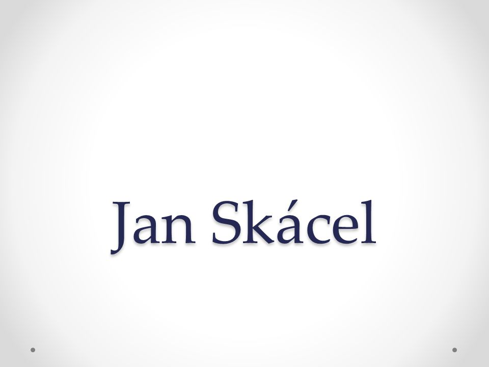 Identifikátor materiálu: EU – 14 - 34 Anotace Žák se seznámí s životem a tvorbou J.
