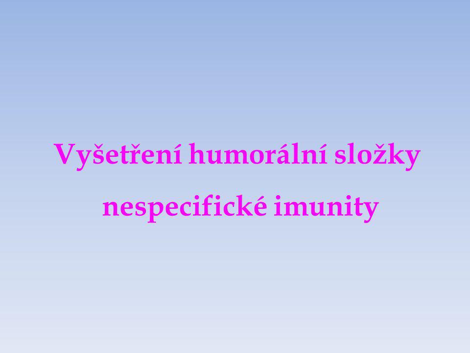Komplement Složka nespecifické humorální imunity Soubor asi 30 sérových a membránových proteinů Produkován hepatocyty a makrofágy Kaskádovitá aktivace Funkce:chemotaxe opsonizace MAC produkce anafylatoxinů