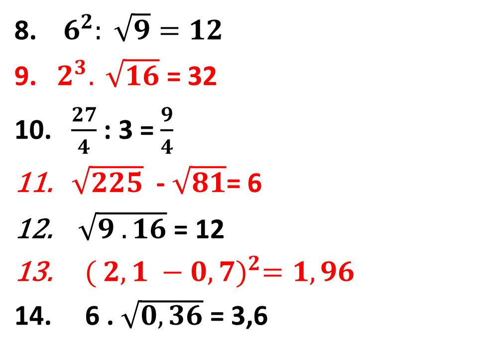 15.Rozdíl čísla 8 a dvojnásobku čísla 2,1. 16. Podíl trojnásobku čísla 8 a dvojnásobku čísla 4.