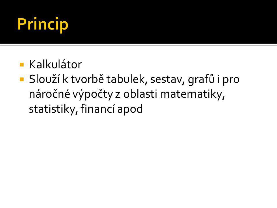  Sešit – tabulka, která zastupuje soubor; obsahuje listy  List – dříve 1, v současnosti sešit obsahuje více listů (např.