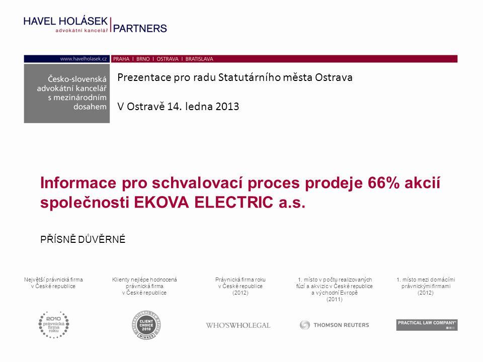 Prezentace pro radu Statutárního města Ostrava V Ostravě 14.