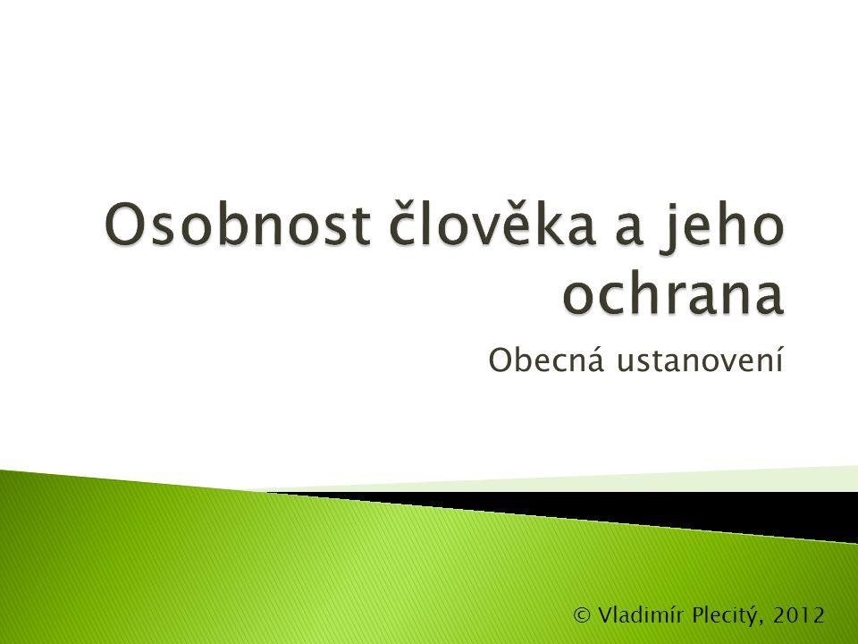 Obecná ustanovení © Vladimír Plecitý, 2012