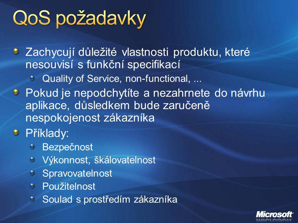 Zachycují důležité vlastnosti produktu, které nesouvisí s funkční specifikací Quality of Service, non-functional,... Pokud je nepodchytíte a nezahrnet