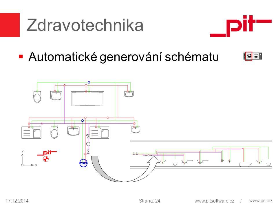 www.pit.de Zdravotechnika  Automatické generování schématu 17.12.2014Strana: 24www.pitsoftware.cz /
