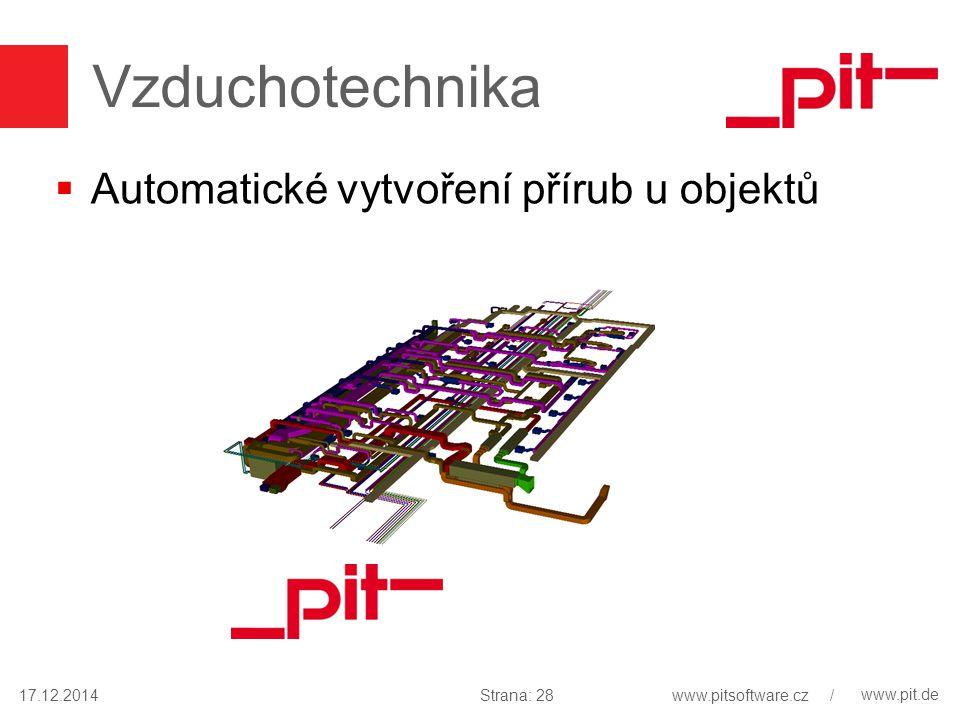 www.pit.de Vzduchotechnika  Automatické vytvoření přírub u objektů 17.12.2014Strana: 28www.pitsoftware.cz /