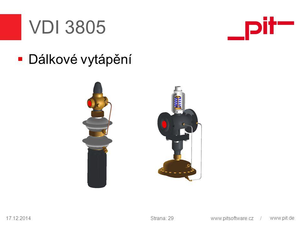 www.pit.de VDI 3805  Dálkové vytápění 17.12.2014Strana: 29www.pitsoftware.cz /