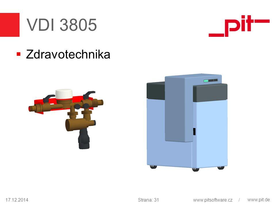 www.pit.de VDI 3805  Zdravotechnika 17.12.2014Strana: 31www.pitsoftware.cz /