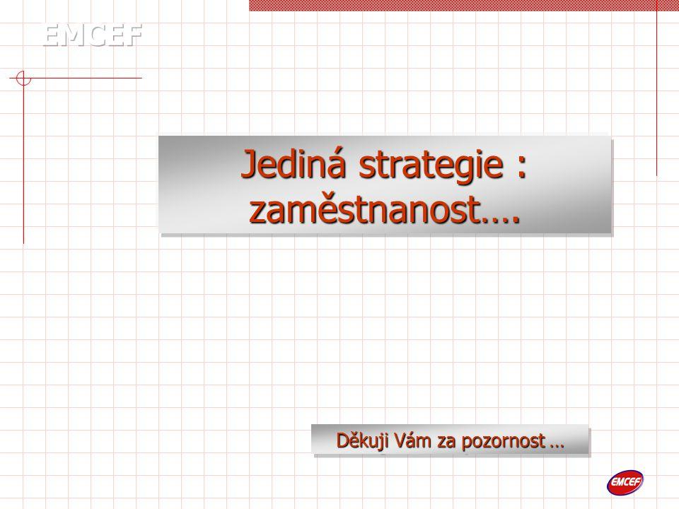 Jediná strategie : zaměstnanost…. Děkuji Vám za pozornost …